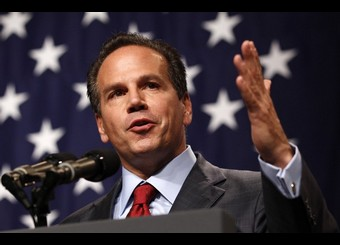 Providence Mayor and candidate for U.S. Congress David Cicilline speaks at a DCCC rally in Providence