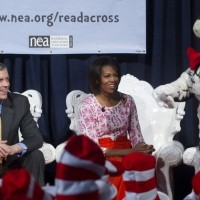 Photos: First Lady Michelle Obama reads Dr. Seuss to kids, celebs at NEA's Read Across America kickoff
