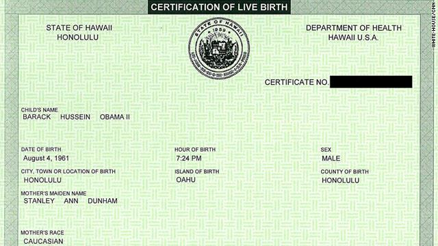White House Shows President Obama's Birth Certificate-PBO to Make ...