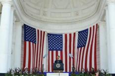 U.S. President Barack Obama speaks on Memorial Day at Arlington Cemetery in Arlington