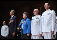 From left: US President Barack Obama, Ho