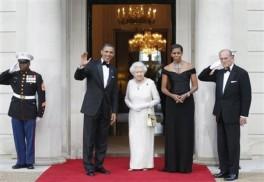 Barack Obama, Michelle Obama, Queen Elizabeth II, Prince Philip