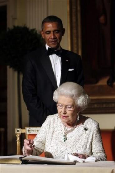 Barack Obama, Queen Elizabeth II