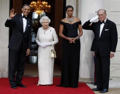 U.S. President Obama hosts dinner for Queen Elizabeth and Duke of Edinburgh in London