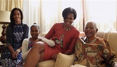 APTOPIX South Africa Michelle Obama Africa