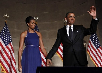 U.S. President Barack Obama and first lady Michelle Obama attend the Pritzker Architecture Prize Event at the Andrew Mellon Auditorium at the White House in Washington
