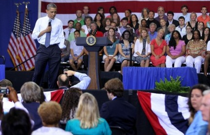 Obama Takes Part In A Town Hall At The University Of Maryland