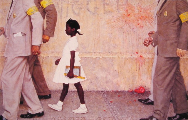President Obama Meets Ruby Bridges Norman Rockwell S