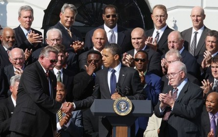 Obama Welcomes 1985 NFL Champion Chicago Bears To The White House