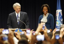 Michelle Obama visits the U.S. Secret Service Headquarters in Washington