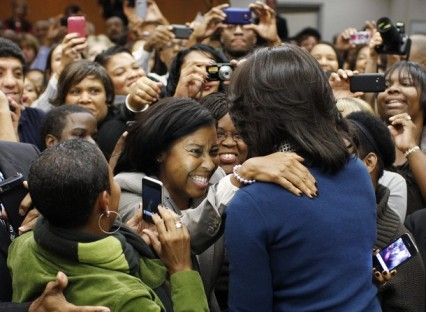 Michelle Obama visits the U.S. Secret Service Headquarters in Washington
