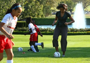 The First Lady Meets With Members Of The US Women's National Soccer Team