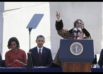 Barack Obama, Aretha Franklin, Michelle Obama