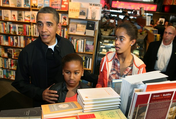 Obama Shops At Kramerbooks
