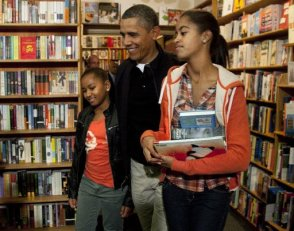 President Obama Book Shopping