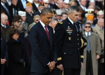 US President Barack Obama and US Army Mi