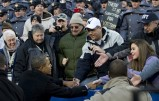 US President Barack Obama greets Navy fa