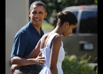 US President Barack Obama and his daught