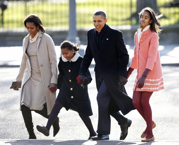 First Family goes to church