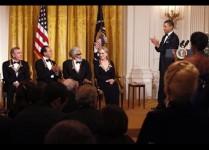 Barack Obama, Michelle Obama, Neil Diamond, Yo-Yo Ma, Sonny Rollins, Meryl Streep
