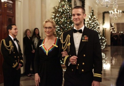 Actress Meryl Streep arrives at the Kennedy Center Honors reception