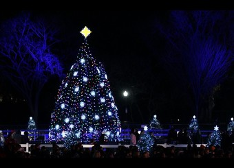 National Christmas Tree Lighting Ceremony Held On DC's Ellipse
