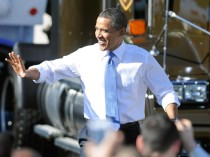 President Obama Speaks About The Economy At UPS Facility In Las Vegas