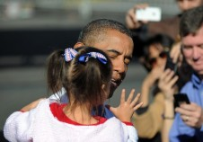 US President Barack Obama holds 5-year-o