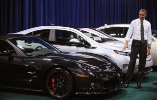 President Obama Visits The DC Auto Show