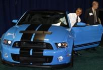 U.S. President Barack Obama visits the 2012 Washington Auto Show in Washington