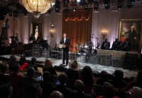 "U.S President Barack Obama addresses the audience attending the ""In Performance at the White House"" event in Washington"