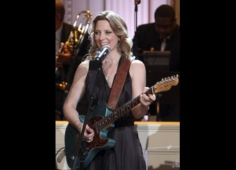 "Susan Tedeschi performs during the ""In Performance at the White House"" series, in Washington"