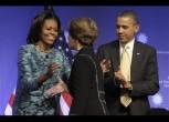 Barack Obama, Michelle Obama, Laura Bush
