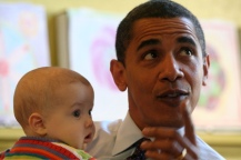 President Obama & Babies14