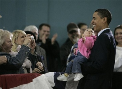 President Obama & Babies18