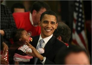President Obama & Babies19