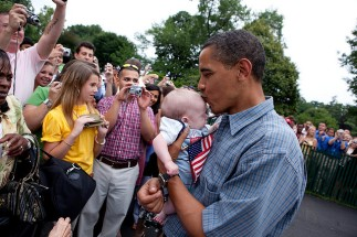 President Obama & Babies7
