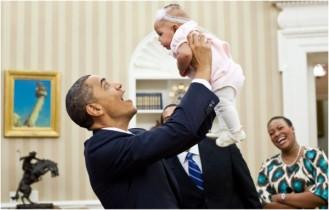 President Obama & Babies8