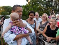President Obama & Babies9