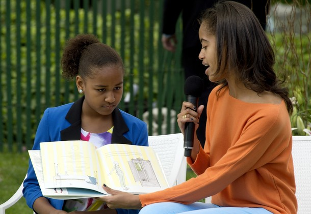 US President Barack Obama's daughters Ma