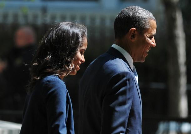 US President Barack Obama and daughter M