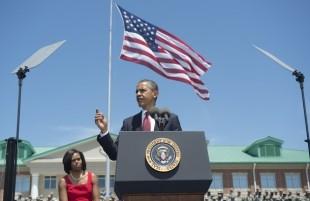 US President Barack Obama speaks alongsi