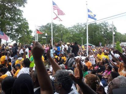Protestors Rally 1