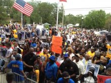 Protestors Rally 3