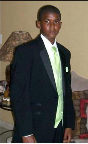 Trayvon Martin dressed suit