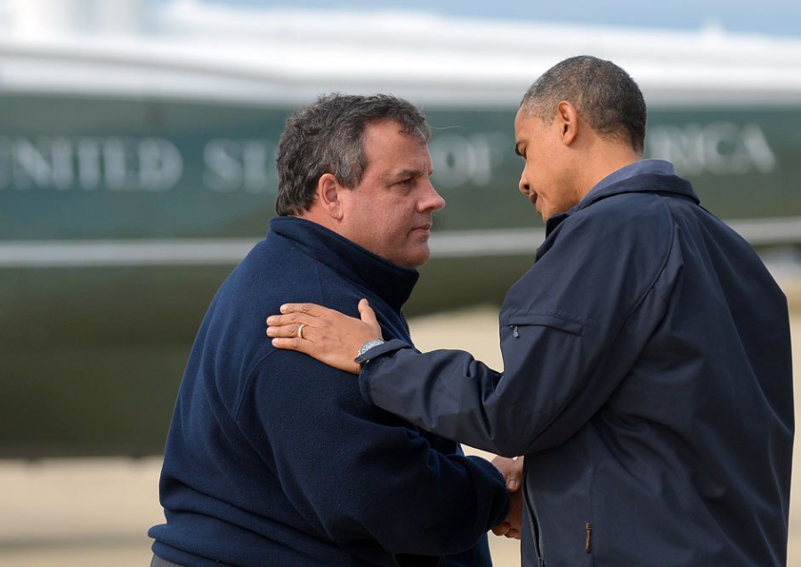 Christie and Obama Tour12