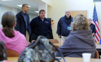 Christie and Obama Tour13