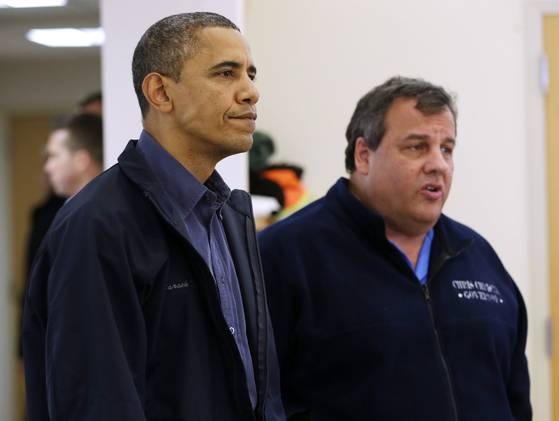 Christie and Obama Tour16