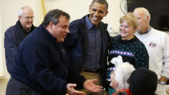 Christie and Obama Tour21
