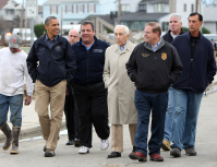 Christie and Obama Tour32